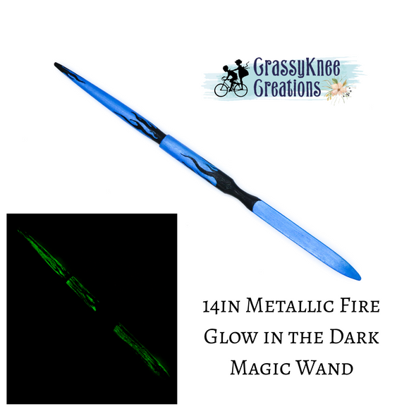 14in Metallic Fire Magic Wand