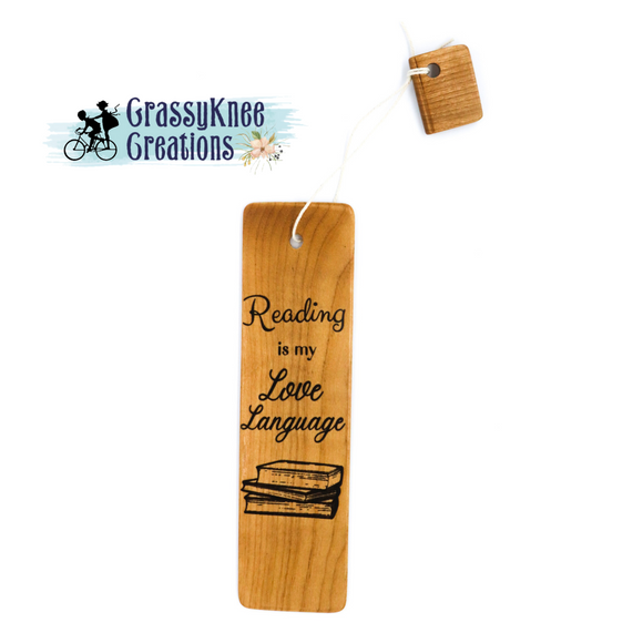 Reading is My Love Language Bookmark