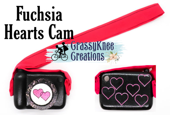 Fuchsia Hearts Camera