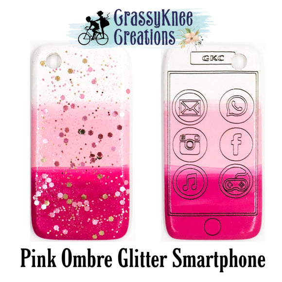 Pink Ombre Glitter Smartphone