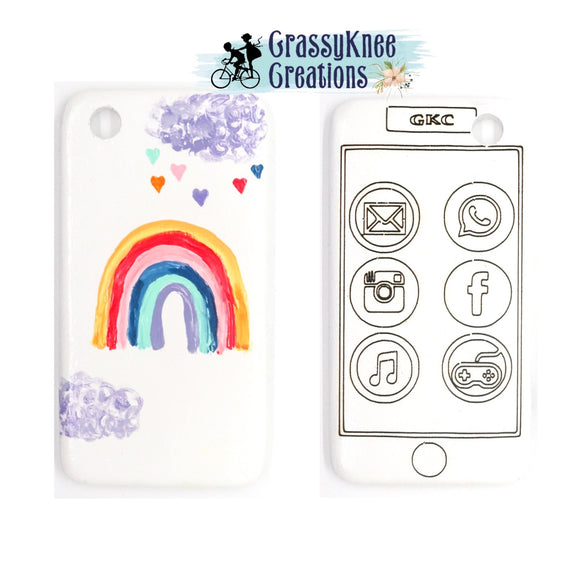 Rainbow and Hearts Smartphone