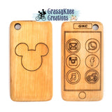 Mouse Wooden Teether Smartphone