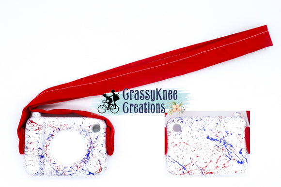 Patriotic Splatter Paint Camera