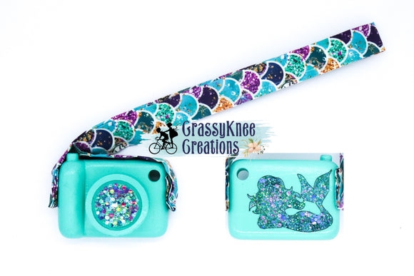 Light Turquoise Glitter Mermaid Cam