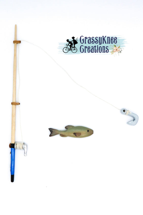 Dolly Magnetic Fishing Pole and Fish Set
