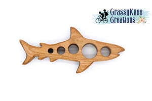 Hand-carved Wooden Shark Teether Smartphone