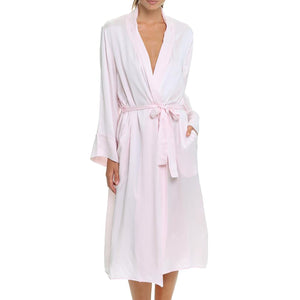 Pure Silk Long Robe - Pink