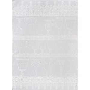 Cristal Tea Towel - White