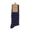 Navy and Pink Polka Socks