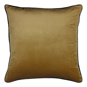 Clifton Velvet Piped Cushion Wheat 55cm x 55cm