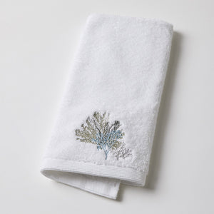 Sea Coral Embroidered Hand Towel