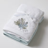 Sea Coral Embroidered Face Washer Pack 3