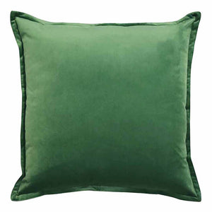 Mira Velvet Cushion - Watercress