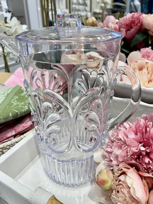 Acrylic Scollop Des Pitcher Clear