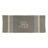Natural Linen Stripe Monogram Teatowel