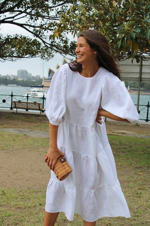 Anna Long Dress white