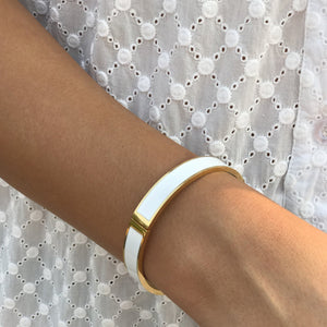 Zjoosh Classic Enamel Bangle White
