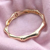 Bamboo Hinged Bangle Gold