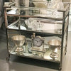 Lucite And Stainless Steel Bar Cart