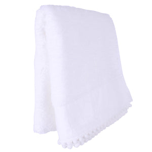 Hand Towels With Baubles White