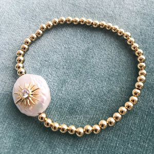 Pearl Starburst Stretch Bracelet