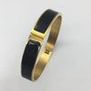 Zjoosh Classic Enamel Bangle Black