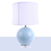 Glass Ball Lamp Light Blue
