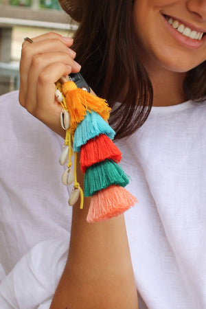 Boho Tassel Key Ring
