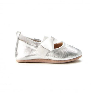 Walnut Shoes - Bonnie Leather Ballet - Silver