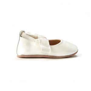 Walnut Shoes - Bonnie Leather Ballet - White Pearl