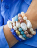 Natural Stone and Pearl Bracelet Blue