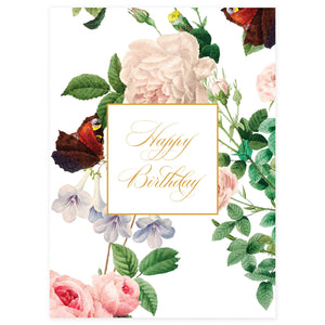 Happy Birthday Butterflies Card