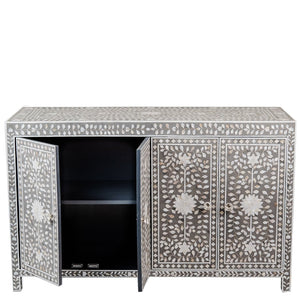 MOP 4-Door Chest Floral Grey