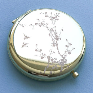 Chinoiserie Compact Mirror Gold