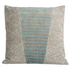 Dhuri Velvet Cushion Grey and Blue