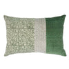 Lilong Velvet Cushion Green