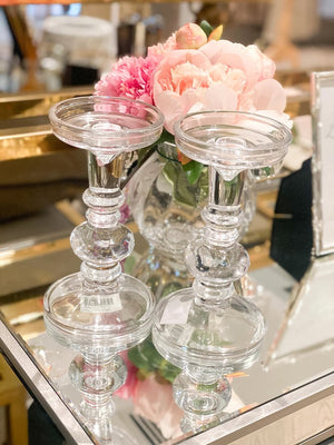 Carlotta Candle Holder Clear Small