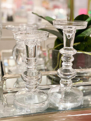 Carlotta Candle Holder Clear Large