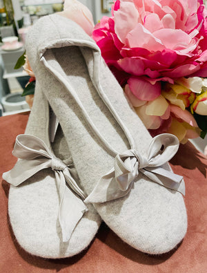 Zjoosh Cashmere Slipper Grey Small
