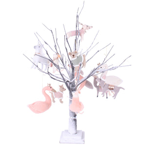 Table Top Tree with Warm Lights Chocolate Small