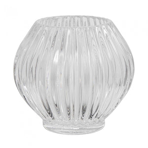 Ridged Tlite Round Clear