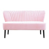 Coco Velvet Two Seater Sofa Pink