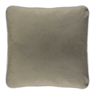 Coco Piped Velvet Cushion Self Trim Nougat 55cm X 55cm