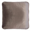 Coco Piped Velvet Cushion Self Trim Vintage Pebble 55cm X 55cm