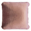 Coco Piped Velvet Cushion Self Trim Rose 55cm X 55cm
