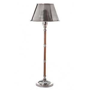 Delaware Table Lamp W/Metal Shade Silver Antique Silver