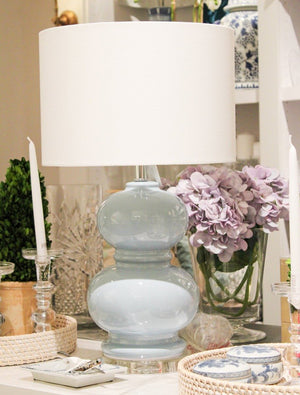 Double Gourd Lamp Pale Blue