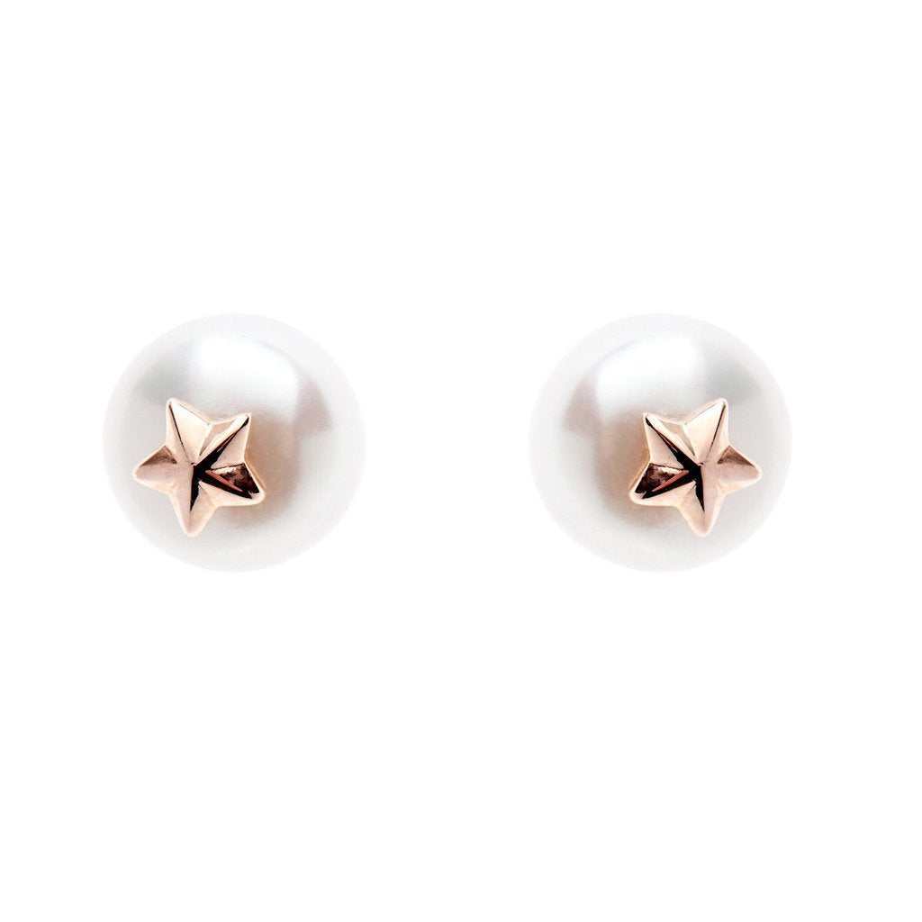 Sybella Jewellery - Pearl Earring With Rose Star