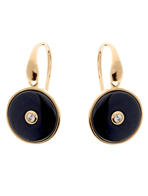 Olivia Gold and Black Ceramic Earrings