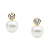 Freshwater Pearl Earrings - Gold